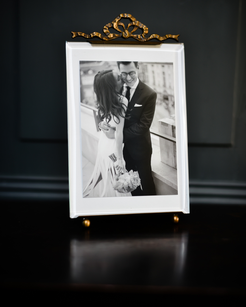 Wild Weddings. Your favourite wedding photograph in an antique ribbon bow frame