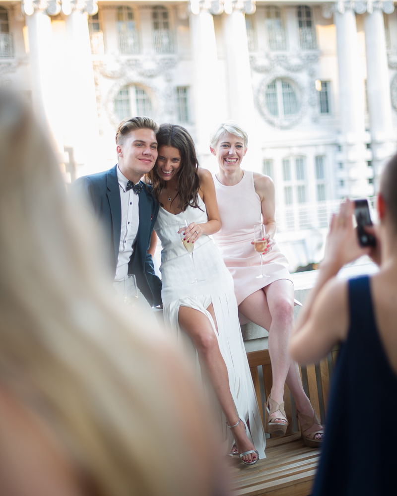 The Pompadour Ballroom Terrace, Hotel Café Royal, Regent St, London wedding photographer Wild Weddings