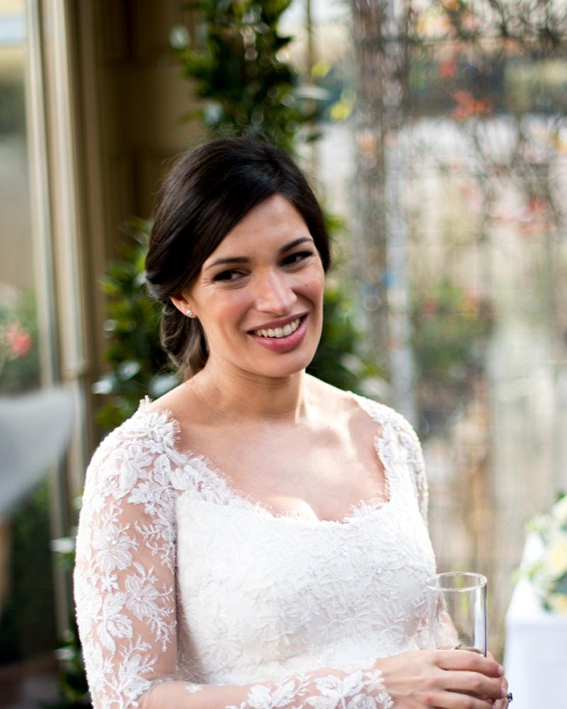 Bride at The Chelsea Gardener, Chelsea wedding photographer Wild Weddings