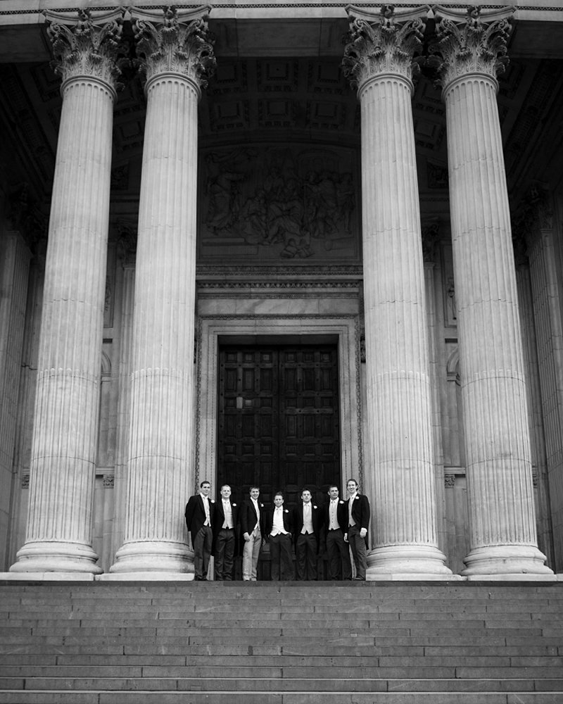 Ushers in morning suits. St Paul's Cathedral wedding photographer Wild Weddings