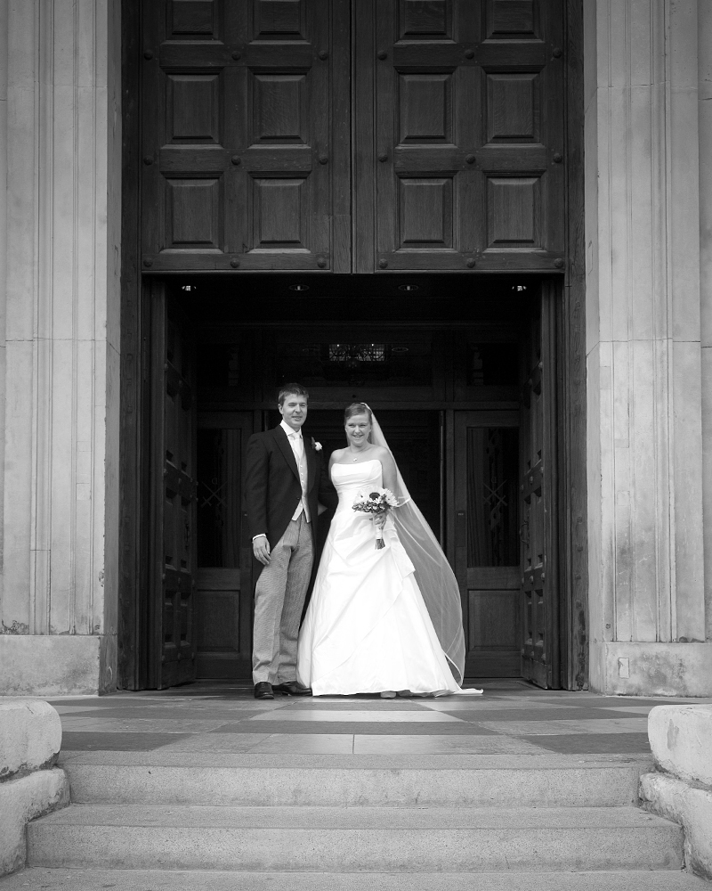 Bride & Groom. St Paul's Cathedral wedding photographer Wild Weddings