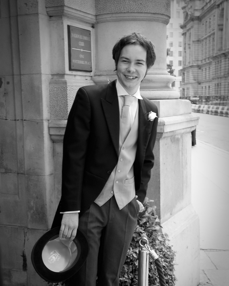 Morning suit. One Whitehall Place. wedding photographer Wild Weddings