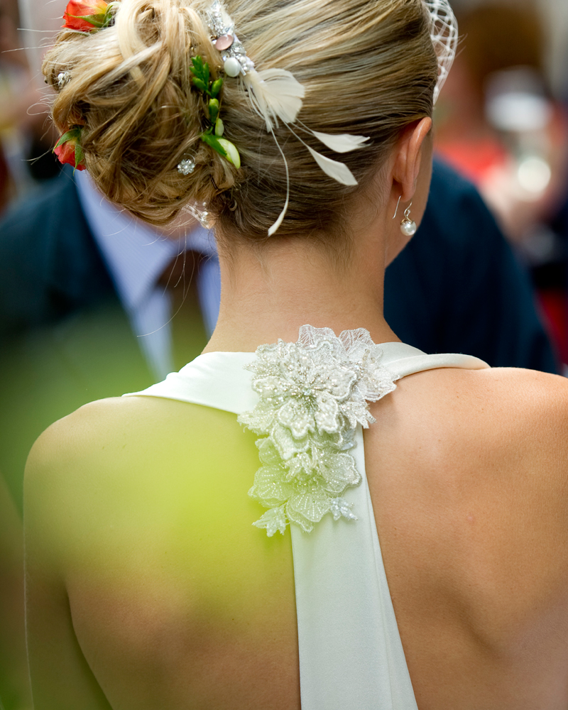 Bridal gown detail.One Whitehall Place. wedding photographer Wild Weddings