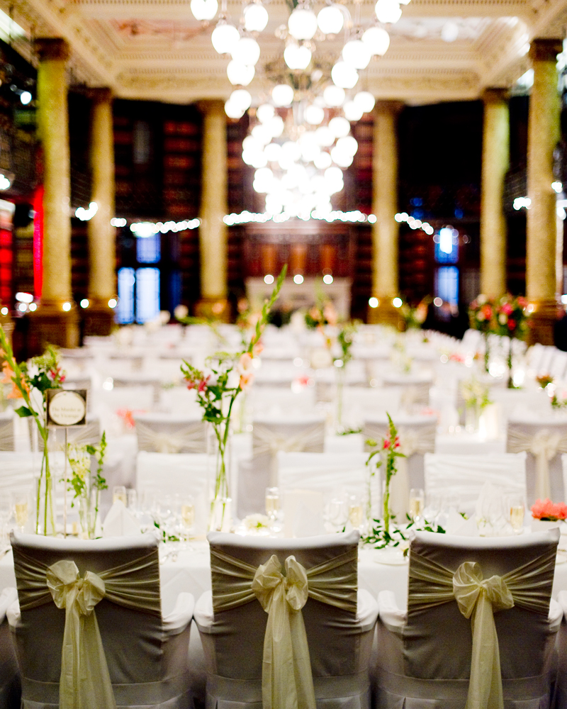 Dining hall. One Whitehall Place. wedding photographer Wild Weddings