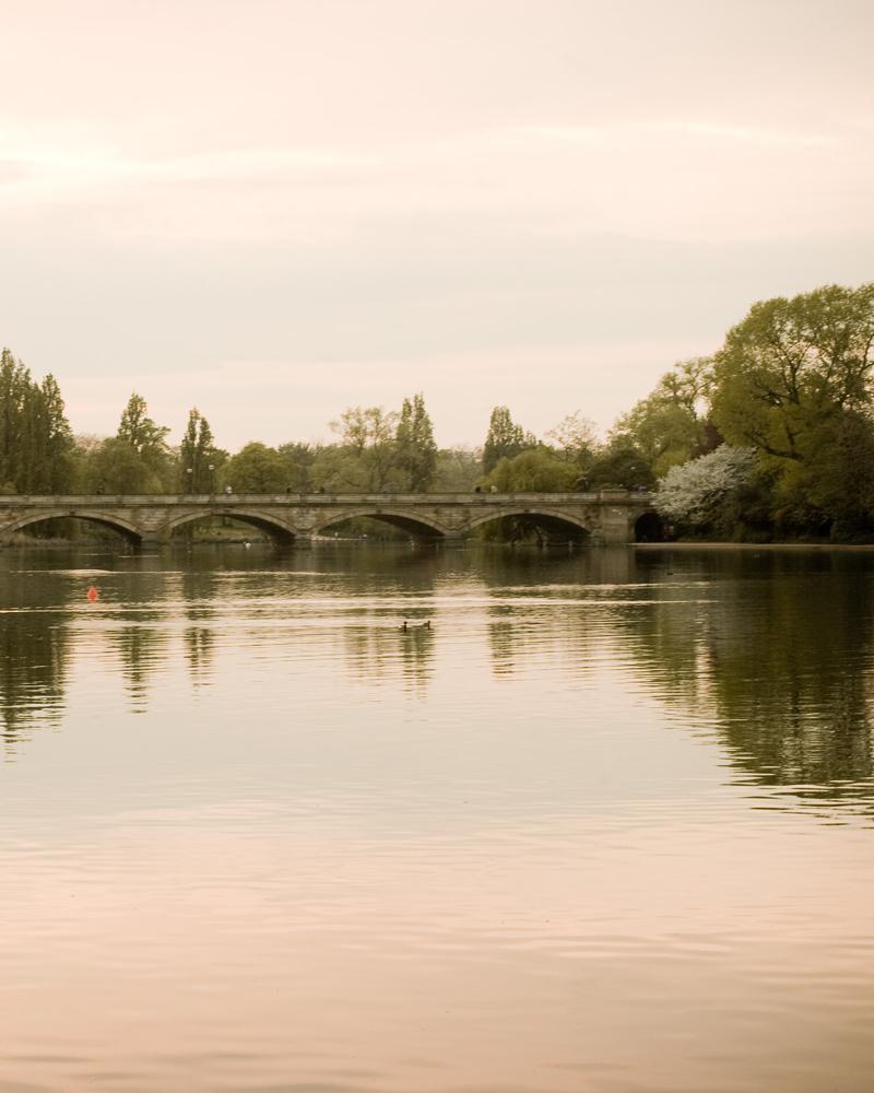 Bridge over The Serpentine. Knightsbridge wedding photographer Wild Weddings