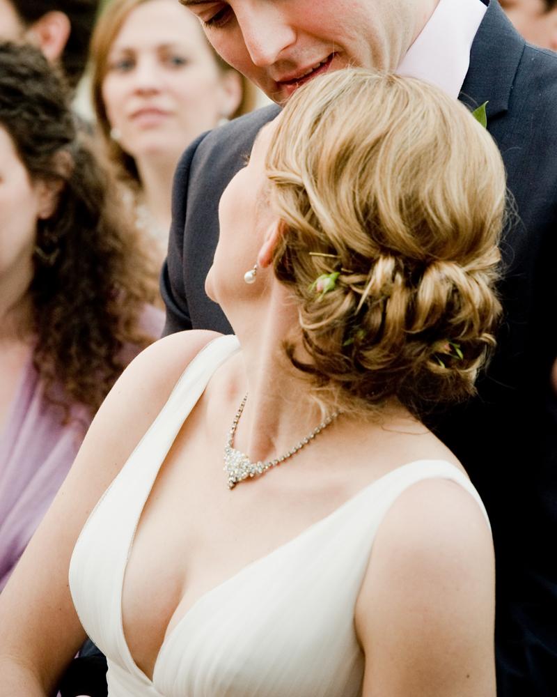 Bride and gusets at Lido, Hyde Park. Knightsbridge wedding photographer Wild Weddings