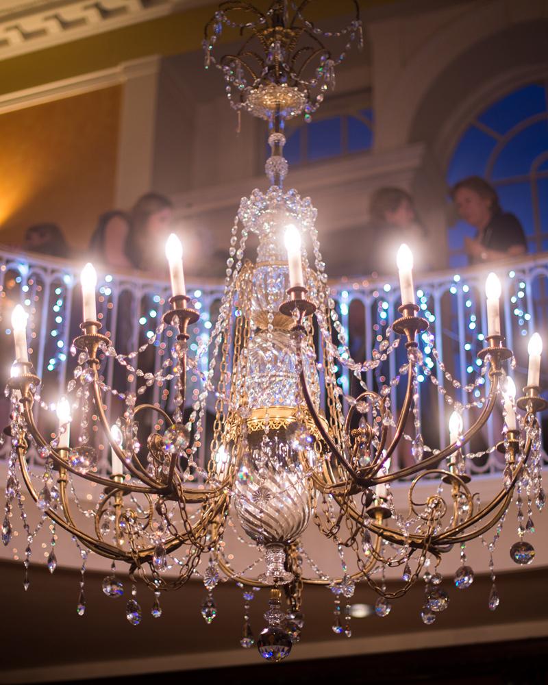 Chandelier. Skinners' Hall wedding photographer Wild Weddings
