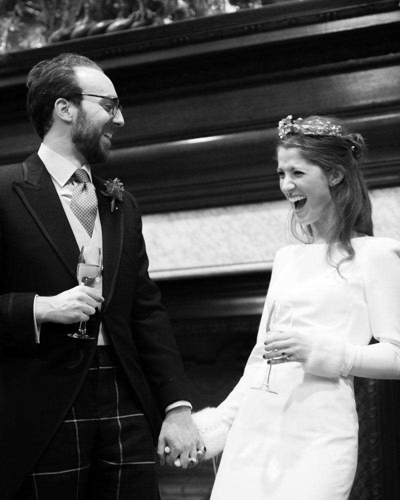 Bride & groom. Skinners' Hall wedding photographer Wild Weddings