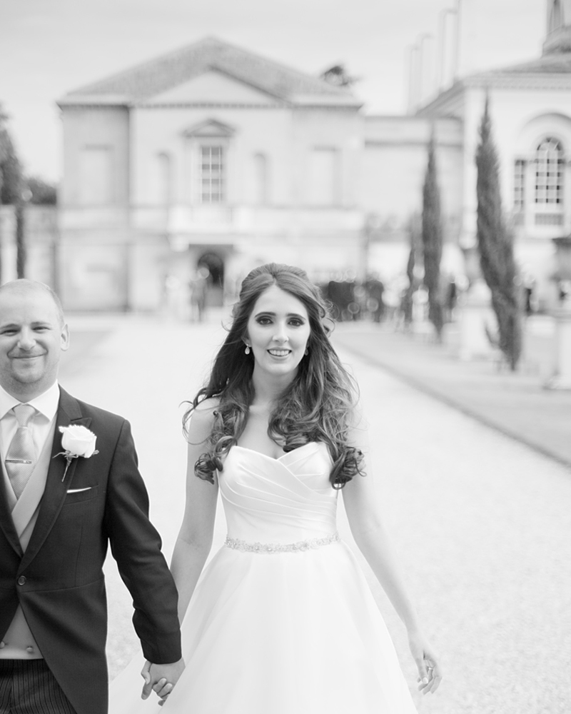 Bride and groom. Chiswick House wedding photographer Wild Weddings