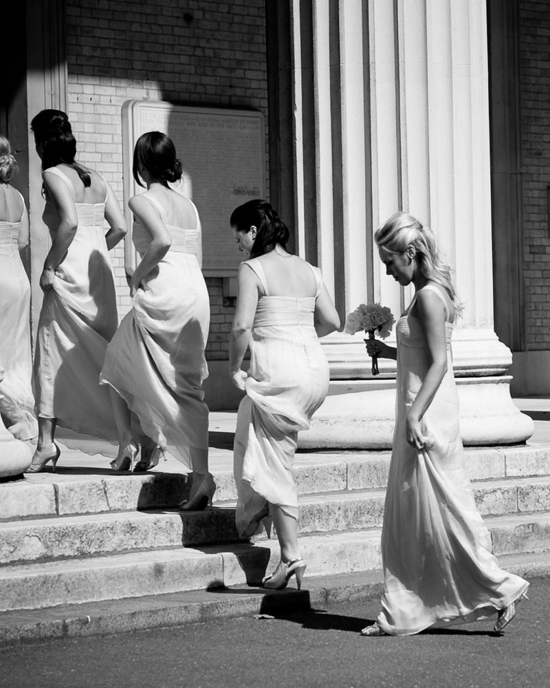 Bridesmaids, St Peter's Church Eaton Square, London W1 Wedding photographer Wild Weddings
