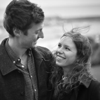 Engagement portrait photography on the Cobb, Lyme Regis, Dorset by Wild Weddings