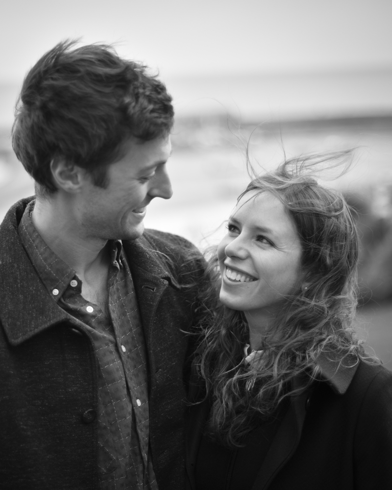 Engagement portrait photography on the Cobb, Lyme Regis, Dorset by Wild Weddings