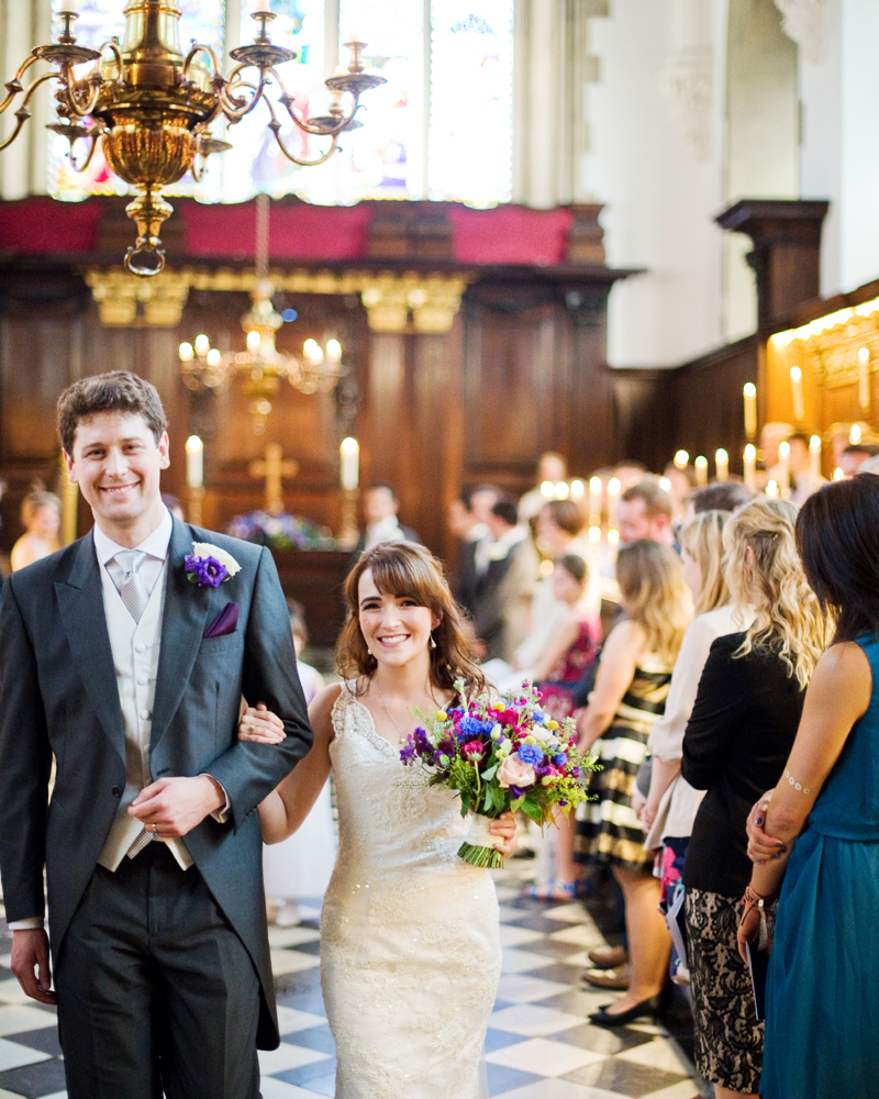 The College Chapel University College Oxford wedding photos by Wild Weddings