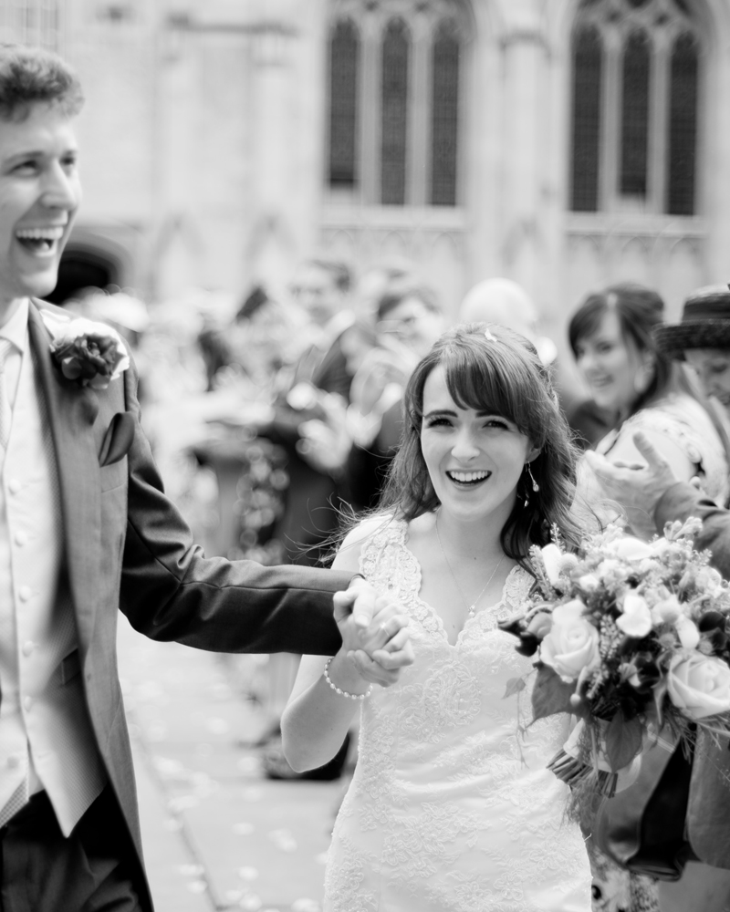Radcliffe Quad University College Oxford wedding photos by Wild Weddings
